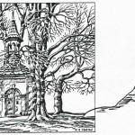 Der Birker Kapelle (Březová kaple, kaple U Břízek, ...), kresba Karl Winter, 10. 12. 1945