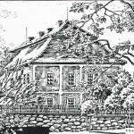 Zámek. Kresba Karl Winter dne 7. 9. 1945