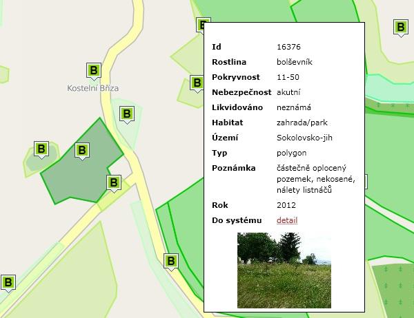 Mapa výskytu invazních rostlin obsahuje i fotografie.